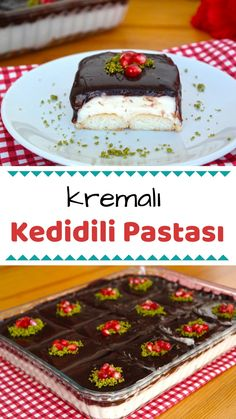 Mini Desserts, Dessert Recipes, Turkish Kitchen, Pastry And Bakery, Turkish Recipes, Tart, Food And Drink, Pudding, Baking