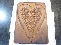 Holzmodel Model sehr alt aus Konditorei Springerle Spekulatiusform Herz  | eBay