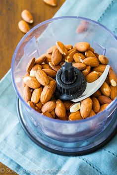 How to make homemade almond butter- so much cheaper than store-bought and it's…