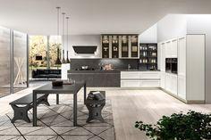 Las cocinas no siempre tienen que diseñarse con un solo modelo. ¿ Y si combinamos un diseño de una puerta con marco, mas clásica, con un modelo de puerta lisa y en acabado piedra muy actual.? El resultado es una #cocina moderna, contemporánea, diferente e innovadora. #Officehogar: #Proyectos innovadores. #Fcovitoria15 #Diseño #Stosacucine #Reformasdecocinasenzaragoza #interiorismo #cocinasybañosparasoñar #cocinasybañosenzaragoza #reformascocinas #cocinasmodernas Large Furniture, Furniture Styles, Furniture Design, Luminous Colours, Luxury Furniture Brands, Architectural Features, Wood Veneer, Contemporary, Home Decor