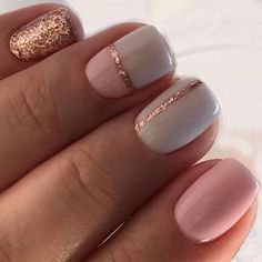 Are you looking for simple but elegant nail art designs for your nails? I have here 15 amazing pretty nail art designs you will love. Simple Gel Nails, Summer Gel Nails, Grey Gel Nails, Gold Nails, Spring Nails, White Sparkle Nails, Summer Vacation Nails, Vacation Nail Art, White Summer Nails
