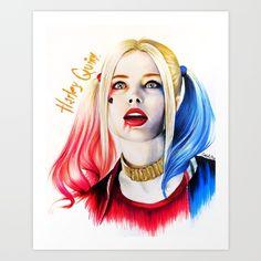Harley quinn By Harley Quinn Drawing, Joker And Harley Quinn, Hearly Quinn, Der Joker, Margot Robbie Harley, Comics Girls, Green Art, Catwoman, Bunt