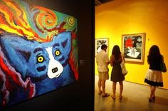 Rodrigue's Blue Dog...originally from New Iberia, Cajun Country.  I would love to see this museum.