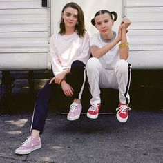 Maisie Williams and Millie Bobby Brown | Converse