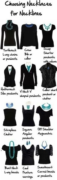 How to Choose Necklaces for your Neckline. See details.