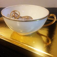 Tea cup jewelry holder by MIEdesignedinNYC on Etsy