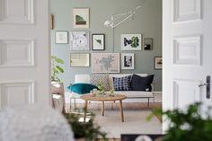 Scandinavian home: A calm Swedish apartment in green and cognac