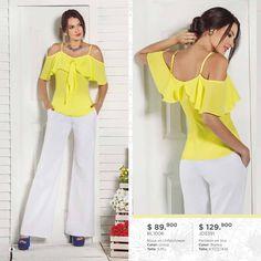 Peplum, Popular, Yellow, Blouse, Fitness, Pants, Victoria, Sewing, Dresses