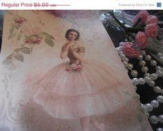 SALE E    1        Ballerina  Gift  Tags //Hang  by ShoppeLaFluer