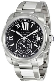 W7100016  NEW CARTIER CALIBRE DE CARTIER MENS WATCH    Usually ships within 8 weeks - FREE Overnight Shipping - NO SALES TAX (Outside California)- WITH MANUFACTURER SERIAL NUMBERS- Black Dial- Date Feature  - Self Winding Automatic Movement - 3 Year Warranty- Guaranteed Authentic - Certificate of Authenticity- Manufacturer Box