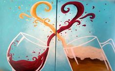 Browse our upcoming painting classes and events at Brandon Pinot's Palette! Reserve your seat for the best paint and sip experience today! Wine And Paint Night, Paint And Drink, Paint And Sip, Easy Canvas Painting, Diy Painting, Canvas Art, Canvas Ideas, Painting Classes, Painting Love Couple