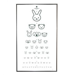 Eye Chart by Floor 4 Projects Ha ha ha! this is a silly eye chart! Deco Kids, Eye Chart, Deco Addict, Cute Eyes, Dramatic Play, Cool House Designs, Kidsroom, Design Inspiration, Graphic Design