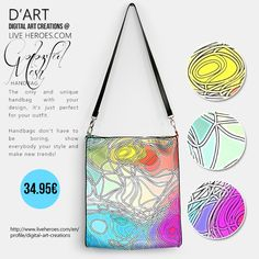 Colorful Mesh...  #abstract #mesh #colors #colorful #organic #shapes #lines #bright #grid #circles #blobs #strings #psychedelic #modern #fashion #fashionhandbag ##womanhandbag #handbag #liveheroes #digitalartcreations