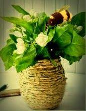 gkkreativ: Vase aus Packpapier