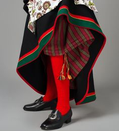 Stocking & shoes for bunad from Åmli, Norway, in Aust-Agder (East Agder) Norway Culture, Folk Clothing, Beautiful Costumes, Bridal Crown, Folk Costume, Kristiansand, Traditional Outfits, Couture, Fashion Dresses