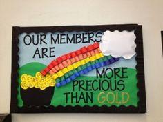 March Bulletin boards idea for kindergarten