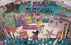 Art Journaling 102: Technique Feature – {Hybrid} Tutorial-  Gesso Wash & Borders