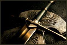 Strider's Sword II by EthalenSkye Queen Of The Tearling, Sword Hilt, Medieval Weapons, Medieval Life, Shield Maiden, Bilbo Baggins, Striders, Wattpad, Archangel Michael