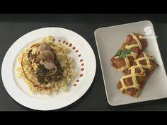 عجينة الفطيرة بالدجاج + شريحة ديك رومي محشي في الفرن حصة صلصة و معكرونة - Samira Tv - YouTube