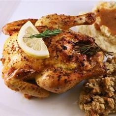 Poussin with garlic and rosemary @ allrecipes.co.uk