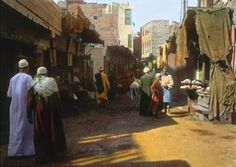 A bazaar/market in Cairo. | These Color Photos Of Cairo In 1910 Will Blow Your Mind