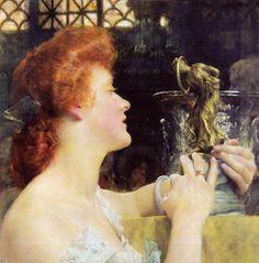 unreal redhead... alma-tadema -  The Golden Hour