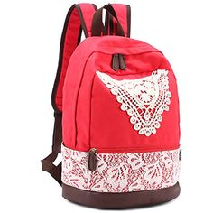 Coofit® Japanese College Style Hollow Out Lace Simple Girl's Backpack (Red) Coofit http://www.amazon.com/dp/B00LVP0ORM/ref=cm_sw_r_pi_dp_y2HCwb1E585H7