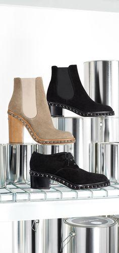 Suede calfskin short boots embellished... - CHANEL