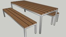 Outdoor Dining Setting with bench seats