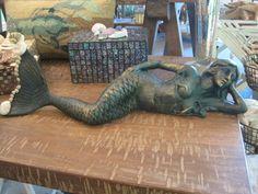 Beach Decor Cast Iron Mermaid