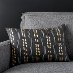 "Russel Black 18""x12"" Pillow"