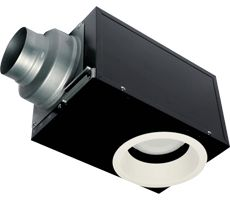 Whisper recessed ventilation fan and light -