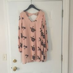 Free People Embroidered Austin Dress (size M) Worn once (for this photo) Free People  Dresses Long Sleeve