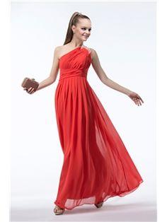 Modern Empire One-shoulder Draped Beading Bridesmaid Dress Affordable Bridesmaid Dresses- ericdress.com 10851796