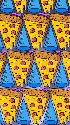 Pizza Slices iPhone 6 / 6 Plus wallpaper #iphonewallpaper