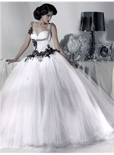 Gorgeous Sweetheart Sleeveless  Embroidery Ball Gown Wedding Dresses