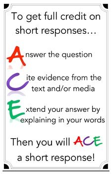 ace method of answering open ended response