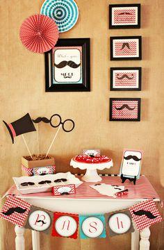 Dapper Father & Son Birthday {Mustache Bash!}