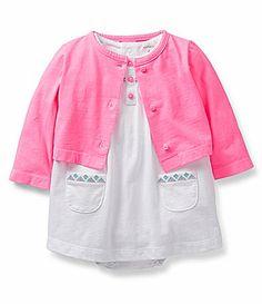 Carters Newborn24 Months Cardigan and Smocked Bodysuit Dress Set #Dillards