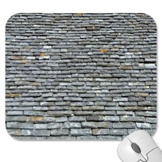 Aged Slate Roof Tiles With Lichens Mouse Pads