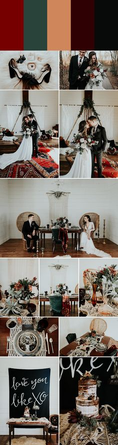 5 Palette Ideas for Winter Wedding Colors