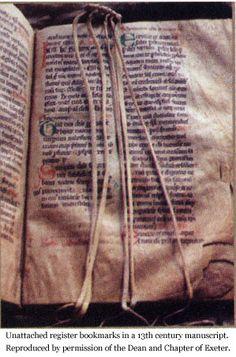 Multiple medieval bookmarks and their sources.