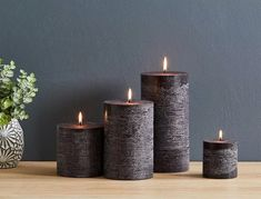 напольные свечи: 6 тыс изображений найдено в Яндекс.Картинках Rustic Candles, Black Candles, Pillar Candles, Big Candles, Pottery Barn Black, Coffee Health Benefits, Contemporary Table Lamps, Entertainment Center Decor, Kids Nutrition