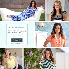 I just entered this $225 #giveaway from @veryjane and @worldboutique #janegiveaway