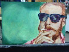 my art - Bon Iver painting, oil. www.fearofbears.net