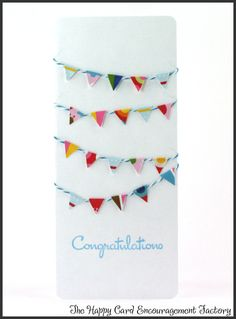 Congratulations card using Trendy Twine and My Thoughts Exactly stamps