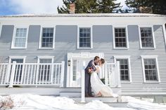 Get married in Vermont in the winter at Crisanver House. It's a fairy tale.