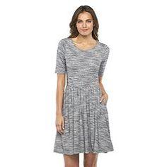 Women's Apt. 9® Marled Fit & Flare Dress