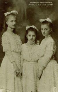Prinzessinnen Alix, Margarete und Anna von Sachsen, daughters of the last saxonian King   Flickr - Photo Sharing!