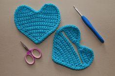 Libre Crochet Patrón: Monedero Corazón Coin